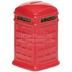 Копилка керамическая Телефонная будка Y3-1443 I.K, 8х8х14.5 см
