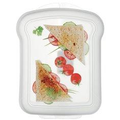Контейнер для бутерброда пластмассовый Phibo Декор 4312854, 17х13х4.2 см