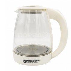 Чайник электрический стеклянный Gelberk GL-407, 1.5 л, 1.5 кВт