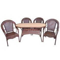 Мебель садовая Аликанте-2 (стол 138х71х75 см, кресло 4 шт), рolywood A297