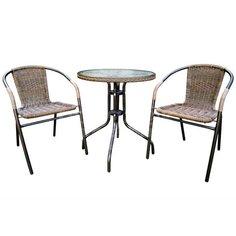 Мебель садовая Марсель мини (стол с оплеткой 60 см, стул 2 шт) WR2719 WR1208-М