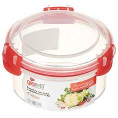 Контейнер пищевой пластмассовый Plastic Centre Fresco GR1892ЧЕРИ, 0.4 л