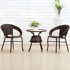Мебель садовая Bistro Wicker (стол, кресло 2 шт) TB885 + F60, черный