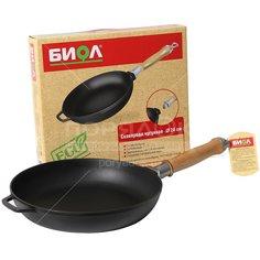 Сковорода чугунная Биол 0124 без крышки со съемной ручкой, 24 см