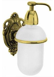 Дозатор жидкого мыла с держателем античное золото Art&Max Impero AM-1705-Do-Ant