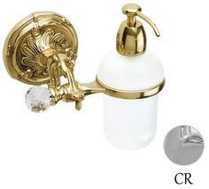 Дозатор жидкого мыла с держателем хром Art&Max Barocco Crystal AM-1788-Cr-C