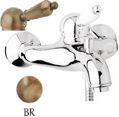 Смеситель для ванны бронза, ручка металл Cezares Elite ELITE-VM-02-M