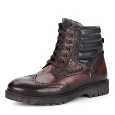 Ботинки Коричневые ботинки с брогированными элементами Respect