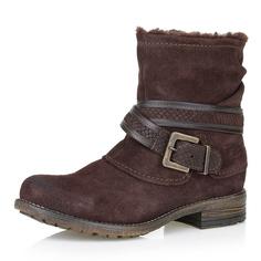 Ботинки Коричневые ботинки из велюра с пряжкой Respect