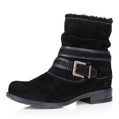 Ботинки Черные ботинки из велюра с пряжкой Respect
