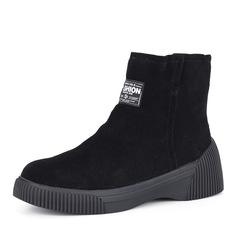 Ботинки Черные велюровые ботинки на плоской подошве Respect