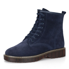 Ботинки Синие ботинки из велюра Respect