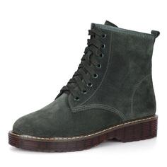 Ботинки Зеленые ботинки из велюра Respect