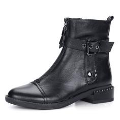 Ботинки Черные женские ботинки с ремешком Respect