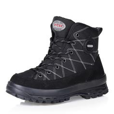 Ботинки Черные ботинки из велюра на рифленой подошве Respect
