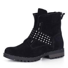 Ботинки Черные ботинки из велюра с декором Respect