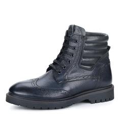 Ботинки Синие ботинки с брогированными элементами Respect
