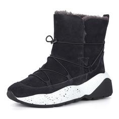 Ботинки Фиолетовые ботинки из велюра на шнуровке Respect