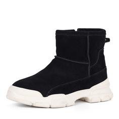 Ботинки Черные ботинки на белой подошве из велюра Respect