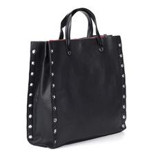 Сумки Черная кожаная сумка с декором Marie Collet