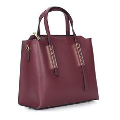 Сумки Бордовая сумка из кожи Respect