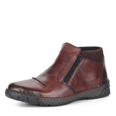 Ботинки Коричневые ботинки из кожи без шнуровки Rieker