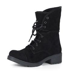 Ботинки Высокие велюровые ботинки на шнуровке в черном цвете Respect