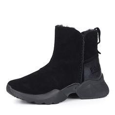 Ботинки Черные велюровые ботинки на утолщенной подошве Tamaris