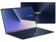 Ноутбук ASUS Zenbook UX433FLC-A5258T Blue 90NB0MP5-M11130 (Intel Core i7-10510U 1.8 GHz/16384Mb/512Gb SSD/nVidia GeForce MX250 2048Mb/Wi-Fi/Bluetooth/Cam/14.0/1920x1080/Windows 10 Home 64-bit)
