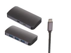 Док-станция Perfeo USB Type-C 5in1 PF-Type-C-19