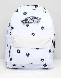 Рюкзак с цветочным принтом Vans-Белый