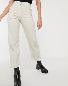 Светло-бежевые широкие джинсы Levis-Белый