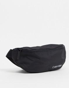 Черная сумка-кошелек на пояс с логотипом Calvin Klein Jeans-Черный