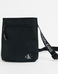 Черная сумка через плечо с логотипом Calvin Klein Jeans-Черный