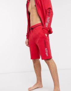 Красные шорты для дома с логотипом Tommy Hilfiger-Красный