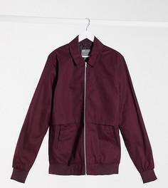 Бордовая куртка Харрингтон ASOS DESIGN Tall-Красный
