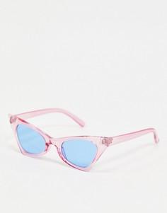 Лавандовые солнцезащитные очки с голубыми стеклами Pieces-Фиолетовый
