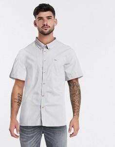 Рубашка в клеточку с короткими рукавами Lacoste-Белый