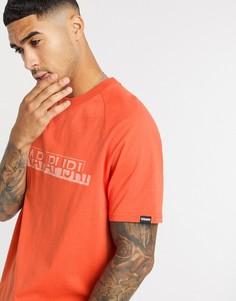 Оранжевая футболка Napapijri-Оранжевый