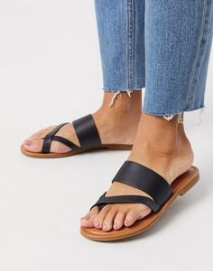 Черные кожаные сандалии ALDO-Черный