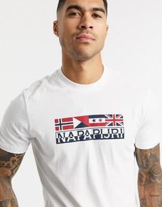 Белая футболка Napapijri-Белый
