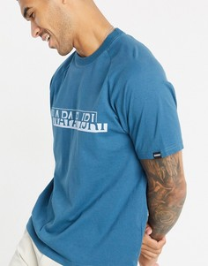 Синяя футболка Napapijri-Синий