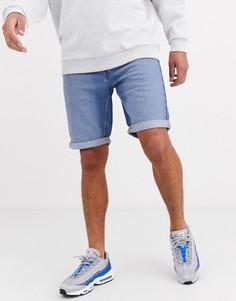 Голубые джинсовые шорты с 5 карманами Lee Jeans-Синий