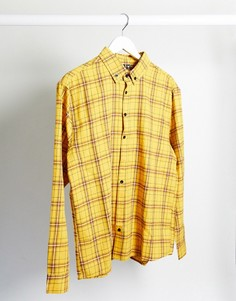 Рубашка горчичного цвета в клетку Good For Nothing-Желтый