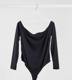Черное боди с открытыми плечами COLLUSION Plus-Черный