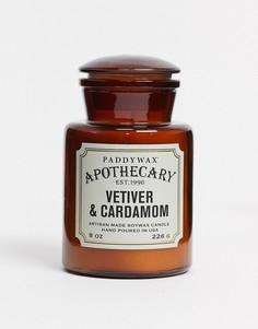 Свеча с ароматом ветивера и кардамона в стеклянной банке APOTHECARY-Бесцветный Paddywax