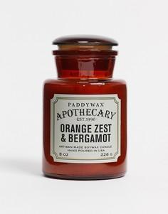 Свеча с ароматом цедры апельсина и бергамота в стеклянной банке APOTHECARY-Бесцветный Paddywax