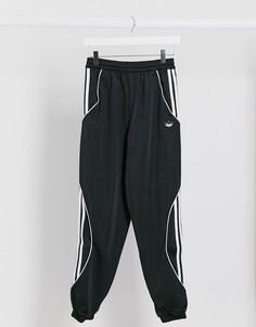 Черные джоггеры на манжетах с отделкой adidas Originals Fatken-Черный