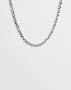 Серебристое ожерелье-чокер в виде цепочки SVNX-Серебряный 7X