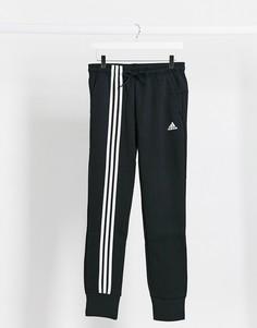 Черные джоггеры с 3 полосками adidas training-Черный